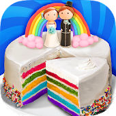 Wedding Rainbow Cake