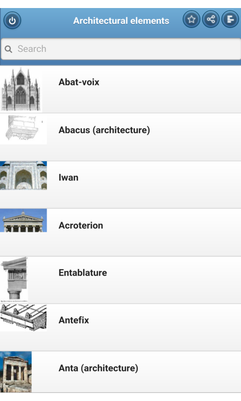 Architectural elements- screenshot