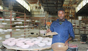 Mduduzi Matsane founder of Canosa Ceramic Factory.