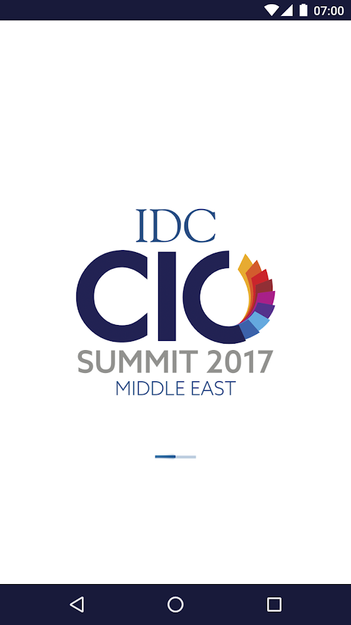 IDC CIO Summit 2017- screenshot