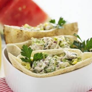 Chicken Salad Pitta Breads.