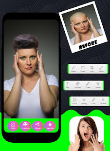Short Hair Photo Maker And Sun Glasses Editor Free - náhled
