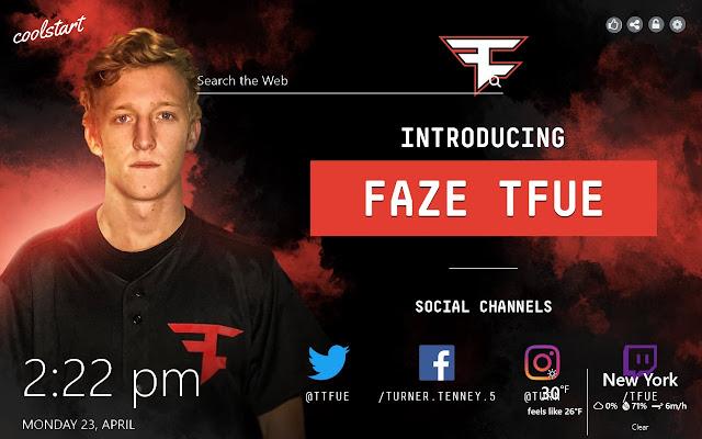 Tfue Twitch Streamer Social New Tab