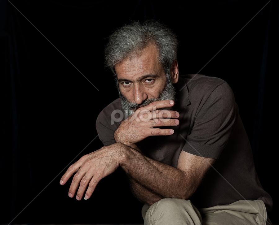Metteur en scène by Oleg Koryagin - People Portraits of Men ( stepanyan, slava, moscow, theater, director, mosarmtheater,  )
