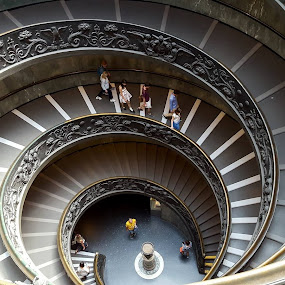 Vatican Stairway by Robert Little - Buildings & Architecture Places of Worship
