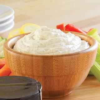Creamy Peanut Dip with Fresh Vegetables.