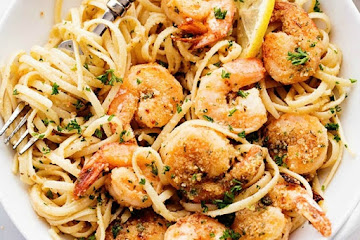 Lemon Garlic Shrimp Scampi