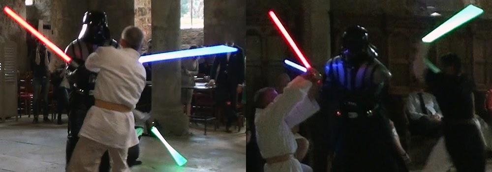 Show Star Wars theme : SW Destructuration. Acrobatie et duel au sabre laser, combat et casccades. Création : Alexis DIENNA, régleur de cascades. Escrime Cascade : https://www.escrimecascade.com/