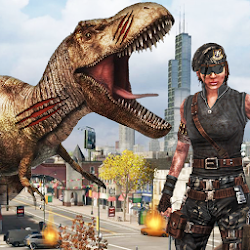 Dinosaur Hunting 2018: City Attack Survival Game