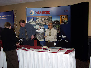 Photo: Career Fair 13:30-16:30 - the Stantec table manned by Jim Mills and Kashyap Desai