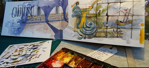 JEANNE PAPA_carnet de voyage aquarelle _ NAPLES 2017