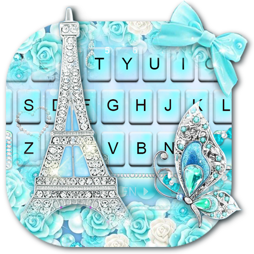 Diamond Paris Butterfly Keyboard Theme Icon