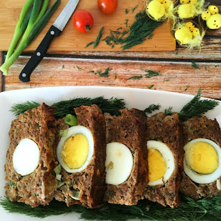 Easter Meatloaf With Egg And Herbs