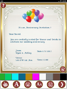 make invitation
