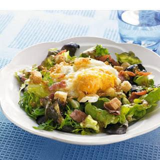 Salade Met Gefrituurd Ei