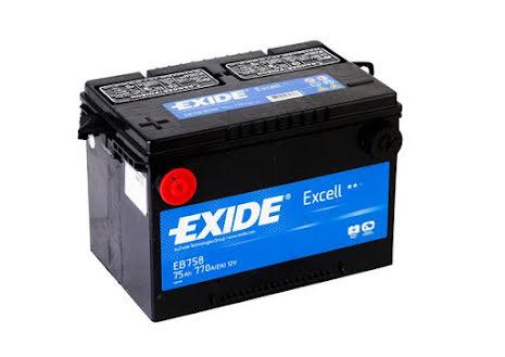 Startbatteri 75Ah Tudor Utgått TB708 Ersätter---