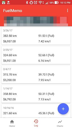 FuelMemo - fuel logs & costs for PC