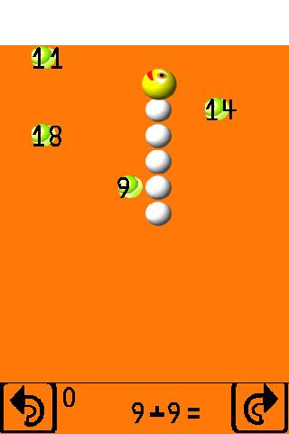 Fun math games. Worm's aims.
