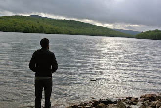 Photo: Just one of the random beautiful lakes we came across.