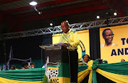 ANC President Jacob Zuma addresses delegates at the 54th ANC National Conference taking place in Nasrec.