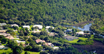 Photo: Overflying the house
