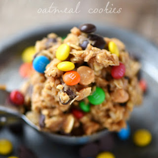 Monster Peanut Butter Oatmeal Cookies