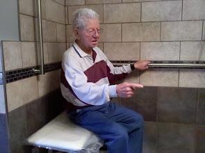 Photo: Bill in handicapped bathroom