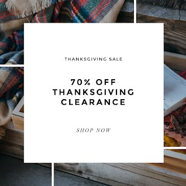 Thanksgiving Clearance - Thanksgiving Template