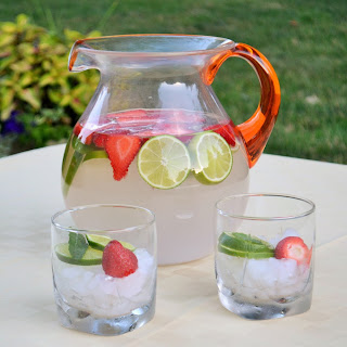 Strawberry Coconut Lime Spa Water.