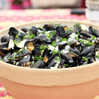 Moules Bouchot Roquefort with the Parrets