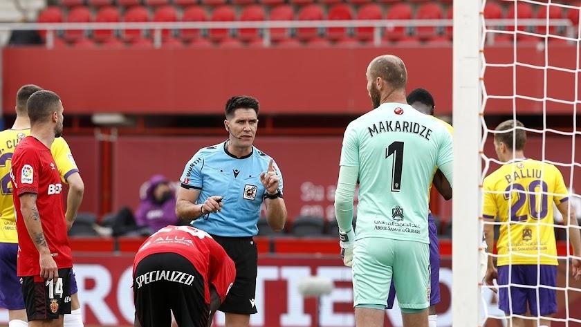 Miguel Ángel Ortiz Arias en el Mallorca-Almería, que finalizó 2-0.