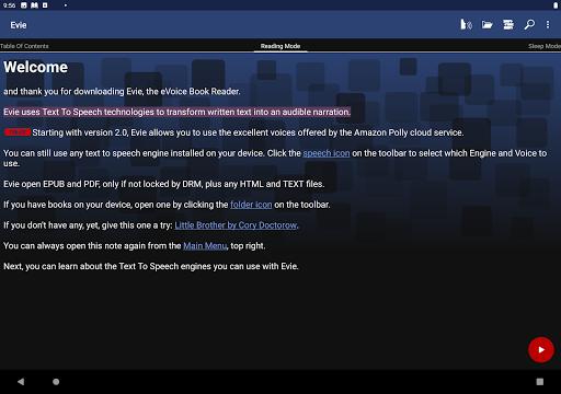 Evie - The eVoice book reader 4.1.2 screenshots 11
