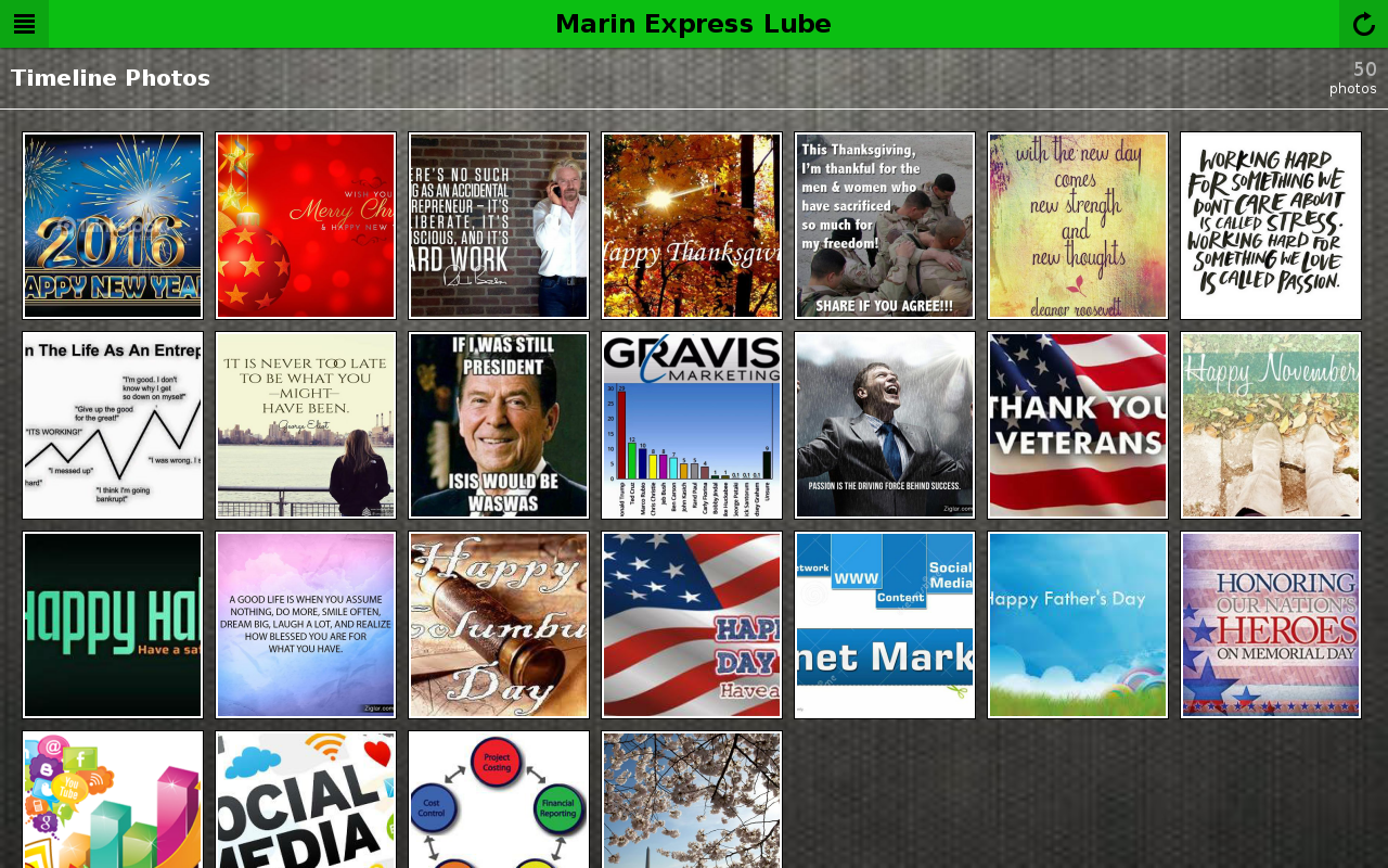 Marin Express Lube- screenshot