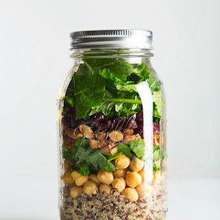 Quinoa & Kale Mason Jar Salad.
