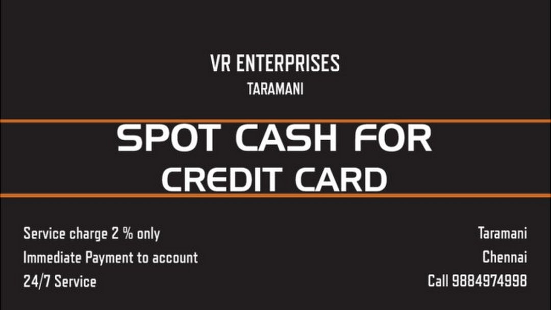 Immediate Credit Card >> Spot Cash For Credit Card In Chennai Only 2 Financial