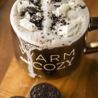 Slow Cooker Cookies and Cream Hot Chocolate.