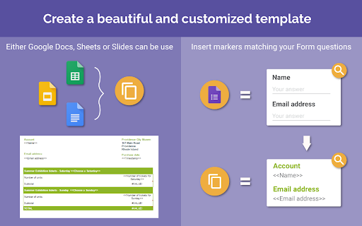 Form publisher g suite marketplace form publisher turn your form submissions into personalized documents pronofoot35fo Image collections