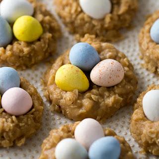 No-Bake Peanut Butter Nest Cookies.