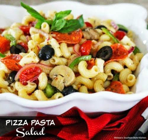 """Pizza Pasta Salad """"It's a terrific anytime-of-the-year pasta salad that makes for..."""