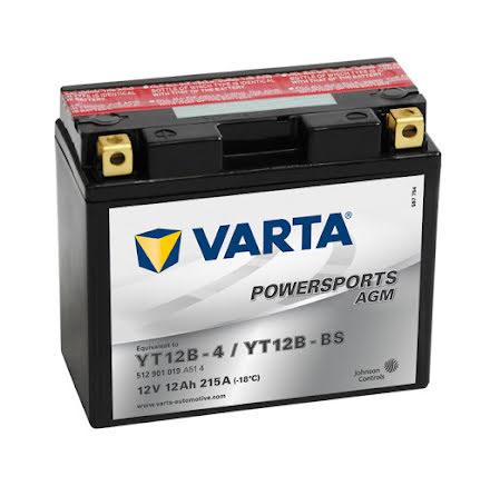 Varta MC batteri 12V/12Ah YT12B-4/YT12B-BS