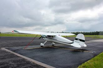 Photo: Wind sock was straight across when landing.