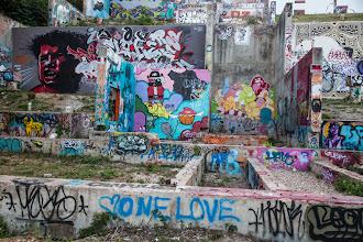 Photo: Foundation at Castle Hill Street Art - Austin, Texas