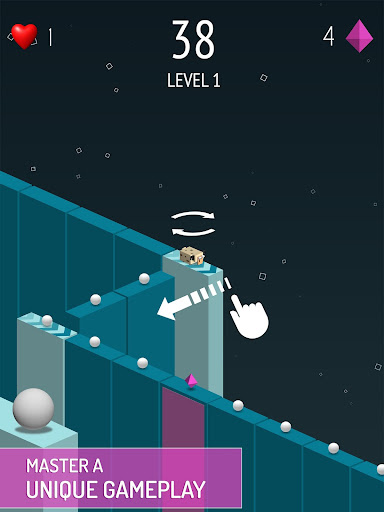 Dot Trail Adventure:Dash on the line, get the ball - screenshot