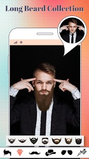 Beard & moustache Boys photo editor - náhled