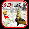 Crane Sim Heavy Excavator Snow icon