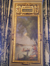 Photo: One of the room's large paintings - a Seine river scene.