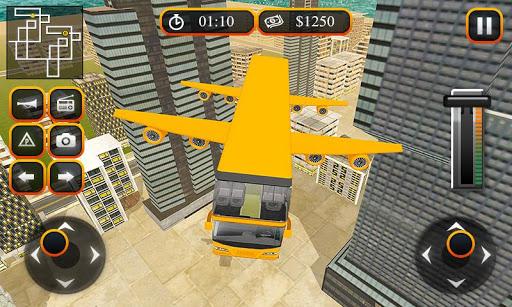 Flying School Bus Sim 2017 1.0.5 screenshots 2