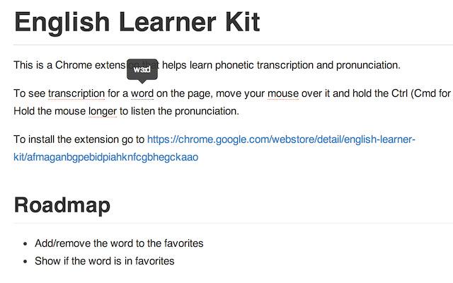 English Learner Kit