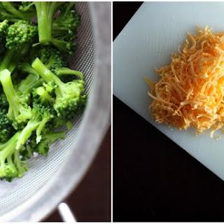 Broccoli Cheddar Frittata with Caramelized Shallots