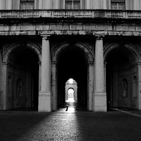 Light from the tunnel by Carlos Cardoso - Buildings & Architecture Public & Historical ( b&w, light, tunnel )
